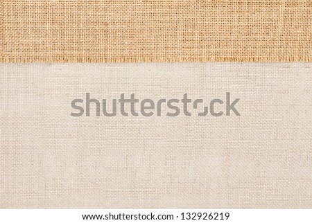 Sackcloth tag pricing over burlap texture - stock photo