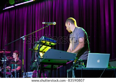 SACRAMENTO, CA - AUG 26: Dave Appelbaun performs with Wang Chung at Thunder Valley Casino in Lincoln, California on August 26th, 2011
