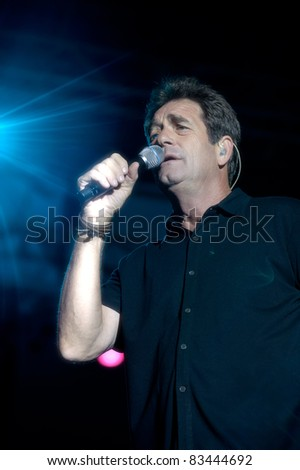 SACRAMENTO, CA - AUGUST 12: Huey Lewis & the News perform at Thunder Valley Casino and Resort in Lincoln, California on August 12th, 2011