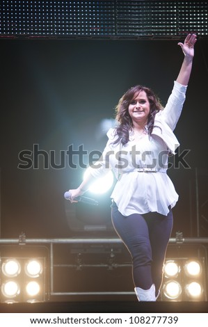 SACRAMENTO, CA - JULY 21: Skylar Laine with American Idol performs in American Idol Live Tour 2012 at Power Balance Pavilion in Sacramento, California on July 21, 2012