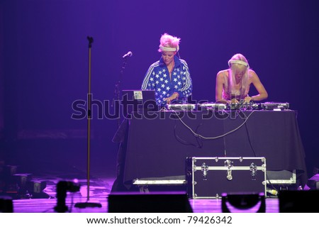 SACRAMENTO, CA - JUNE 16: Nervo opens for Britney Spears in her Femme Fatale tour at Power Balance Pavilion on June 16, 2011 in Sacramento.