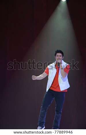 SACRAMENTO, CA - MAY 23: Harry Shum Jr. performs at the Glee Live! In Concert! tour at the Power Balance Pavilion on May 23, 2011 in  Sacramento, California. - stock photo