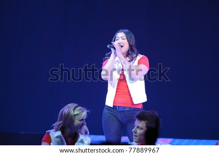 SACRAMENTO, CA - MAY 23: Jenna Ushkowitz perform at the Glee Live! In Concert! tour at the Power Balance Pavilion on May 23, 2011 in  Sacramento, California. - stock photo