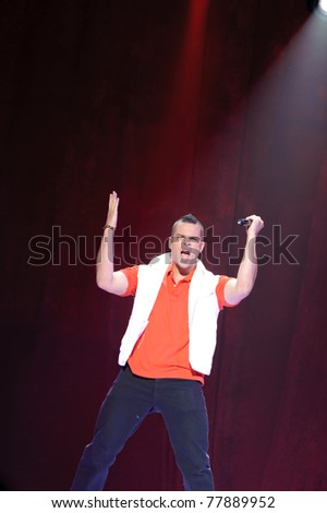 SACRAMENTO, CA - MAY 23: Mark Salling perform at the Glee Live! In Concert! tour at the Power Balance Pavilion on May 23, 2011 in  Sacramento, California. - stock photo