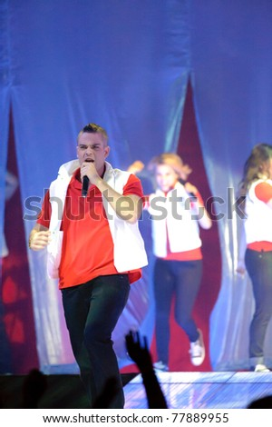 SACRAMENTO, CA - MAY 23: Mark Salling performs at the Glee Live! In Concert! tour at the Power Balance Pavilion on May 23, 2011 in  Sacramento, California. - stock photo