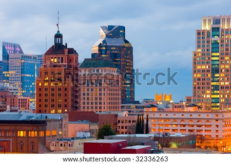 Sacramento skyline - stock photo