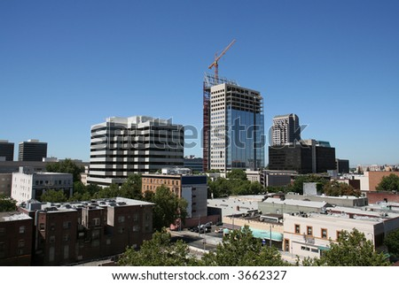 Sacramento Skyline - stock photo