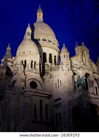 Sacre Coeur at night