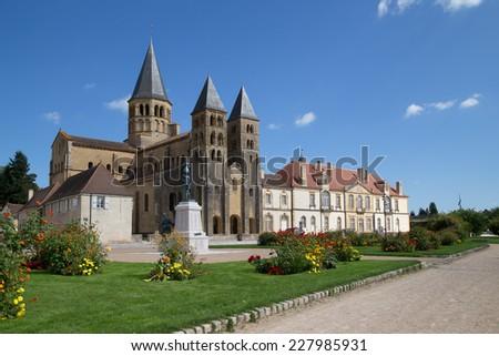 Sacre-Coeur Church in Paray-le-Monial, France - stock photo