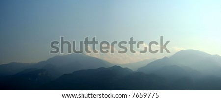 Sacred ancient mountain Olympus in Greece - stock photo