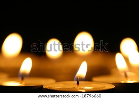 sacred candles - stock photo