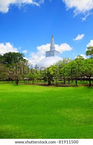 Sacred city of Anuradhapura, Sri Lanka. UNESCO World Heritage site - stock photo