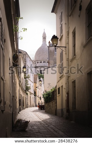 sacred heart in paris France - stock photo