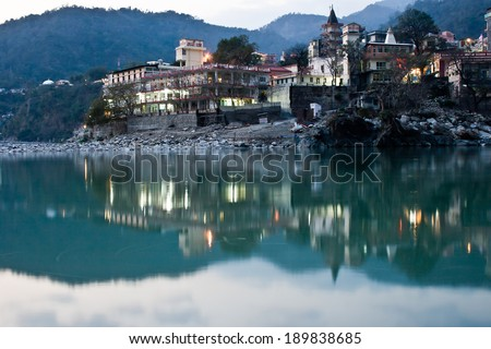 Sacred indian place - Rishikesh, the capital of yoga
