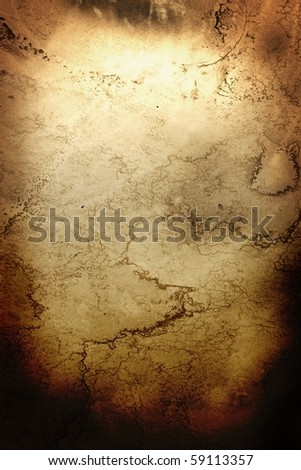 Sacred parchment texture, with illuminated-like title section - stock photo