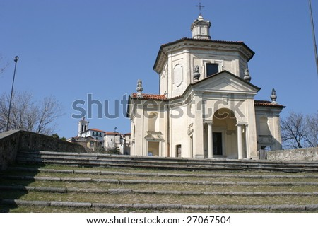 Sacro Monte of Varese, Unesco World Heritage Place, up on the hill
