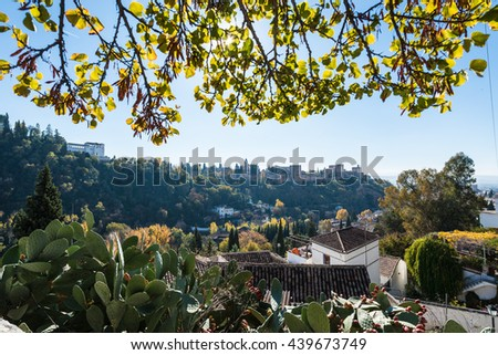 Sacromonte neighborhood of the city of Granada, in Andalusia, Spain - stock photo