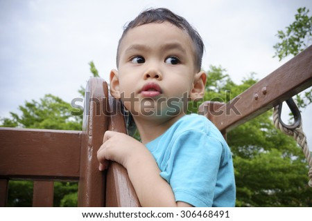 Sad and lonely boy - stock photo
