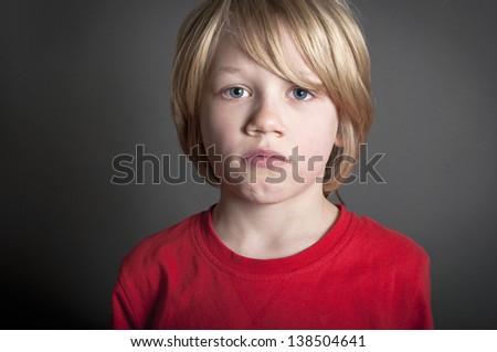 Sad bullied child - stock photo