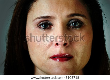 sad crying woman
