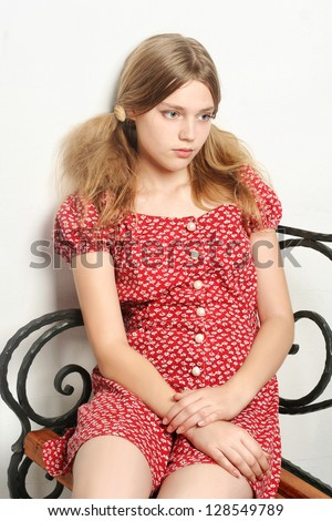 vintage girl sad stock photos images amp pictures