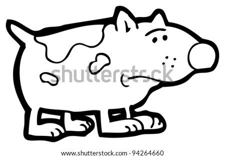Sad Dog Cartoon Black And White Sad Little Dog Cartoon Raster
