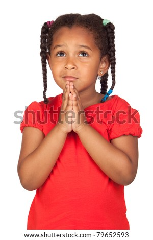 Girl praying stock photos illustrations and vector art