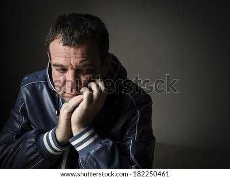 Sad man. Series  - stock photo