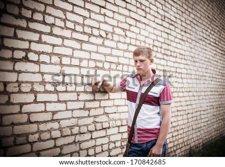 sad teenager - stock photo
