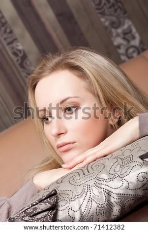 Sad young girl - stock photo