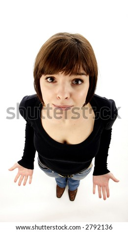 Sad young woman - stock photo