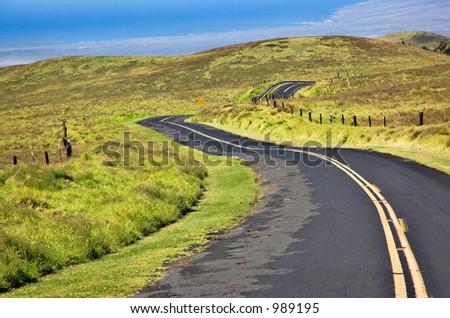Saddleback Road on The Big Island, Hawaii. - stock photo