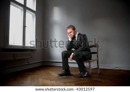 sadness business man - stock photo