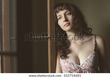 sadness young woman portrait