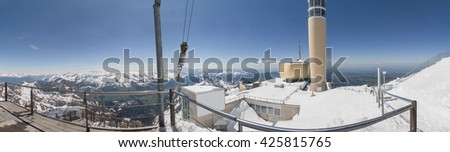 saentis mountain station switzerland high definition panorama