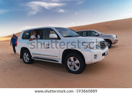 dubai desert safari 4x4 jeeps dubai stock photo 594301406. Black Bedroom Furniture Sets. Home Design Ideas