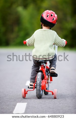 Safe Bicycling - stock photo