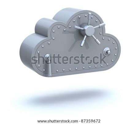 Safe cloud computing concept - stock photo