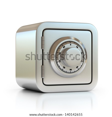 safe 3d icon - stock photo