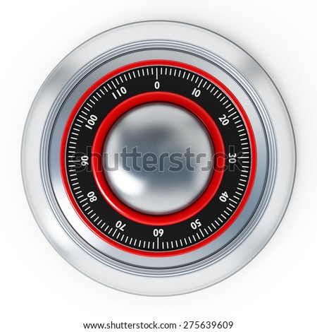 Safe dial isolated on white background