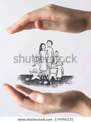 safe family - stock photo