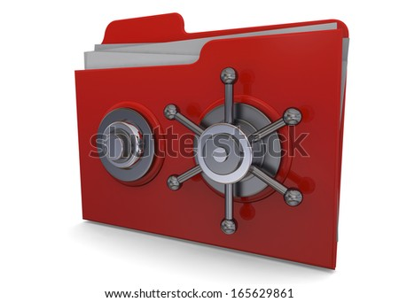 Safe Folder - 3D - stock photo