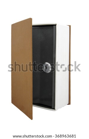 safe for valuables on disguised as a book - stock photo