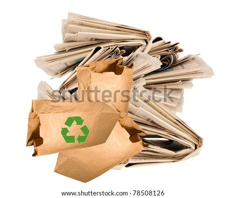 safe our world-recycle! - stock photo