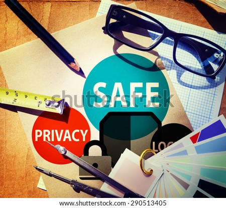 Safe Privacy Locked Security Protection Safe Insurance Concept - stock photo