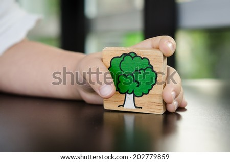 Safe the earth from human - stock photo
