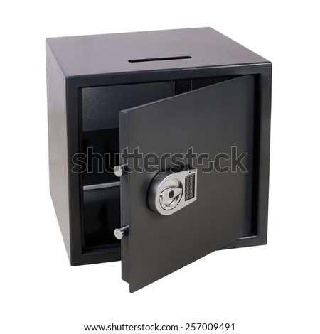 safe with the electronic lock - stock photo