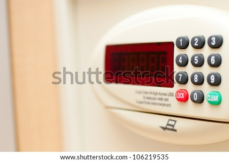safebox in hotel - stock photo