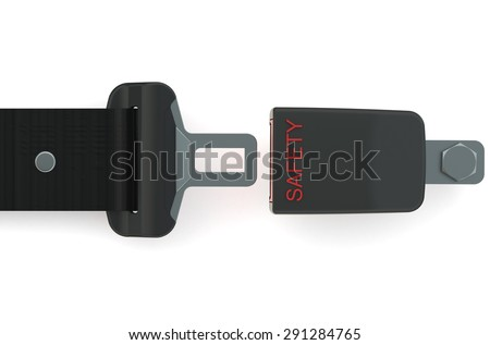 Safety belt concept isolated on white background