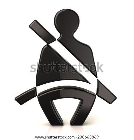 Safety belt icon - stock photo